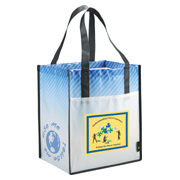 Laminated Non-Woven Striped Big Grocery Tote