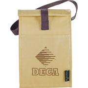 Laminated Non-Woven Brown Baggin It Lunch Bag