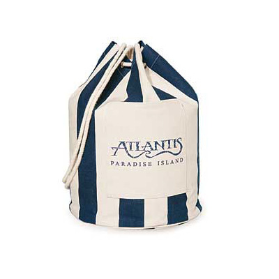Striped Drawstring Duffel/Backpack