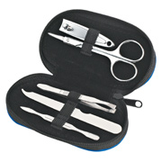 5 Piece Leather Look Manicure Set