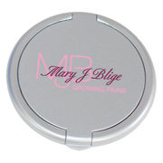 Round Plastic Single Mirror Compact