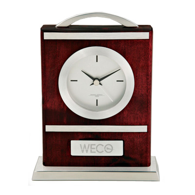 Wood and Aluminum Carriage Clock