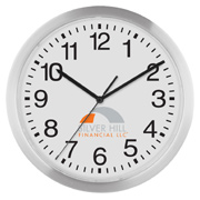 12 Inch Slim Metal Wall Clock