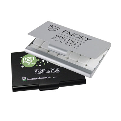 Business Card Case With Mints