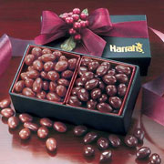 Green Gift Box With Milk and Dark Chocolate Almonds