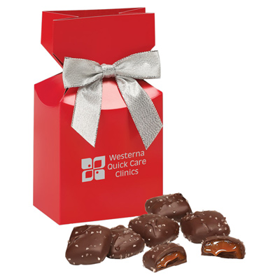 Chocolate Sea Salt Caramels - Red Box