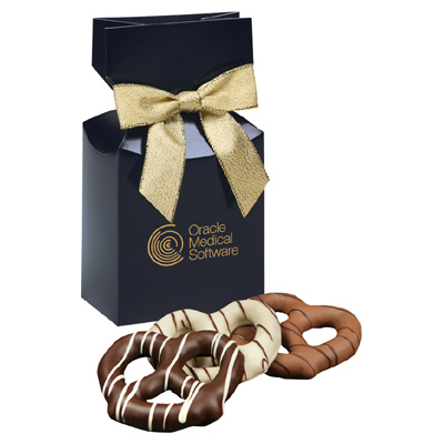 Chocolate Covered Pretzels - Navy Box