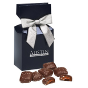 Chocolate Sea Salt Caramels - Navy Box