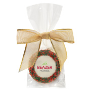 Favor Bag With Chocolate Covered Oreo - Holiday