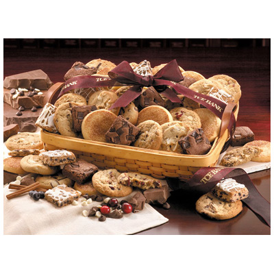 Home-Style Cookie and Brownie Basket - 2 Dozen