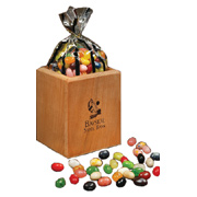 Hardwood Pen and Pencil Cup With Gourmet Jelly Beans