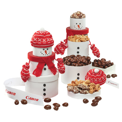 Adorable Snowman Tower