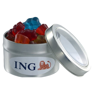 Gummy Bears - Small Window Tin