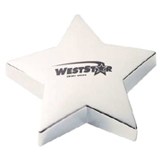 Shining Star Silver Paperweight