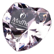 Crystal Heart Shape Paperweight
