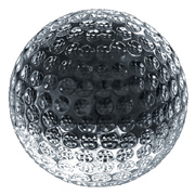 Crystal Golf Papereweight