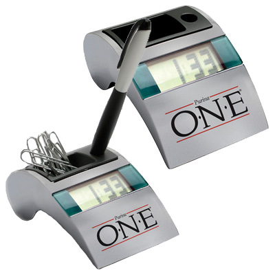 Executive Metal Desk Caddy Clock