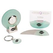 Jade Acrylic Desk Set With Clock