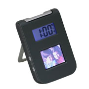 Digital Picture Viewer Travel Alarm CLock