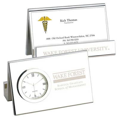 Time-Card Business Card Holder