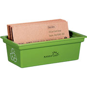 Green Business Card Bin