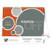 Scratch Off Desk Calendar