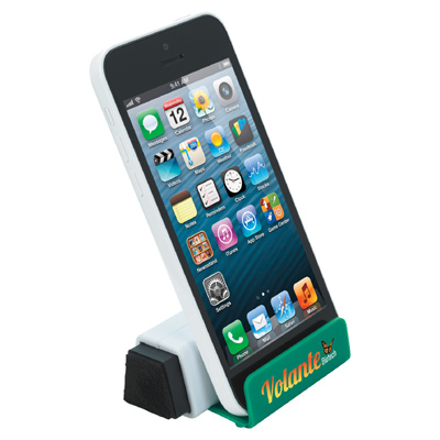 Stand Up Phone Holder With Screen Cleaner