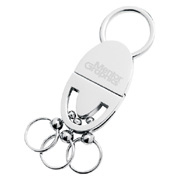 Oval Shape Multi-Rings Pull & Twist Key Holder
