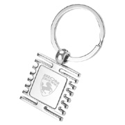 Square Fish Bone Keychain