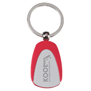 Tear Drop Metal Key Tag