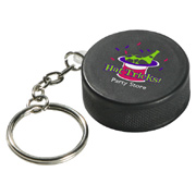 Hockey Puck Key Chain