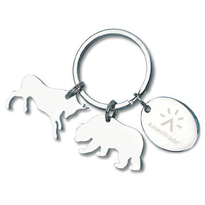 Charmed Bull and Bear Keyholder