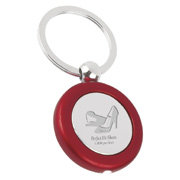 Metal Light Key Tags - Round