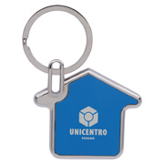 House Shaped Metal Keychain