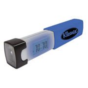 Pocket Travel Alarm Clock With Flashlight
