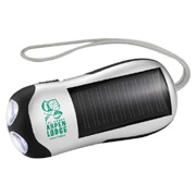 2 LED Solar Power Flashlight