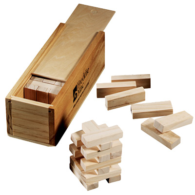Tumbling Tower Wooden Block Game