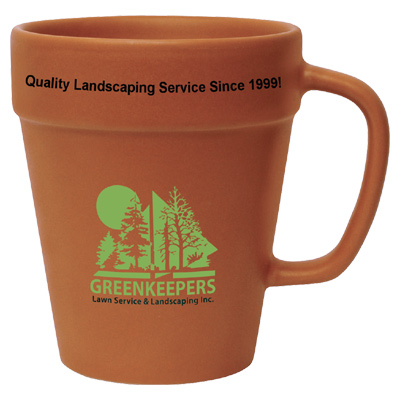 14 oz. Terra Cotta Flower Pot Mug