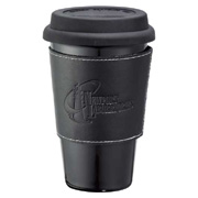 Double Wall Ceramic Tumbler With Wrap - 11 oz.