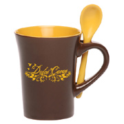 12 oz. Chocolate Two Tone Ceramic Spooner Mug