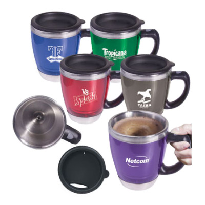 16 oz. Acrylic/Stainless Steel Java Stir Mug
