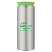 17 oz. Aluminum Bottle With Silicone Lid
