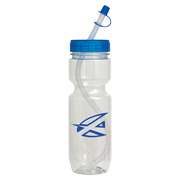 22 oz. Translucent Bike Bottle - Straw Tip Lid