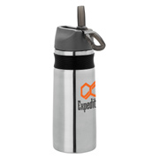 26 oz. Steel Water Bottle With Silicone Band