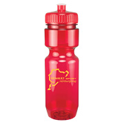 22 oz. Translucent Bike Bottle - Push/Pull Lid