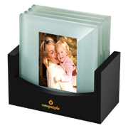 Frosted Photo Coaster Set