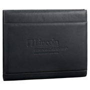 Palazzo Leather Zippered Padfolio