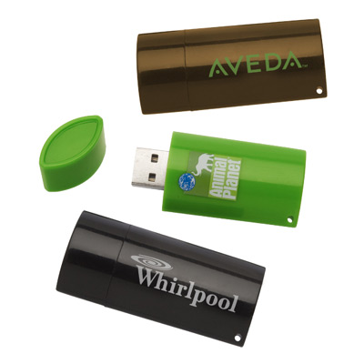 4GB Riclado 100% Post-Consumer Recycled Flash Drive