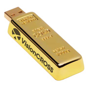 8GB Golden Nugget USB 2.0 Flash Drive