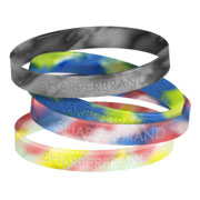 Silicone Rubber Wristband (Multi-Colored - Adult)